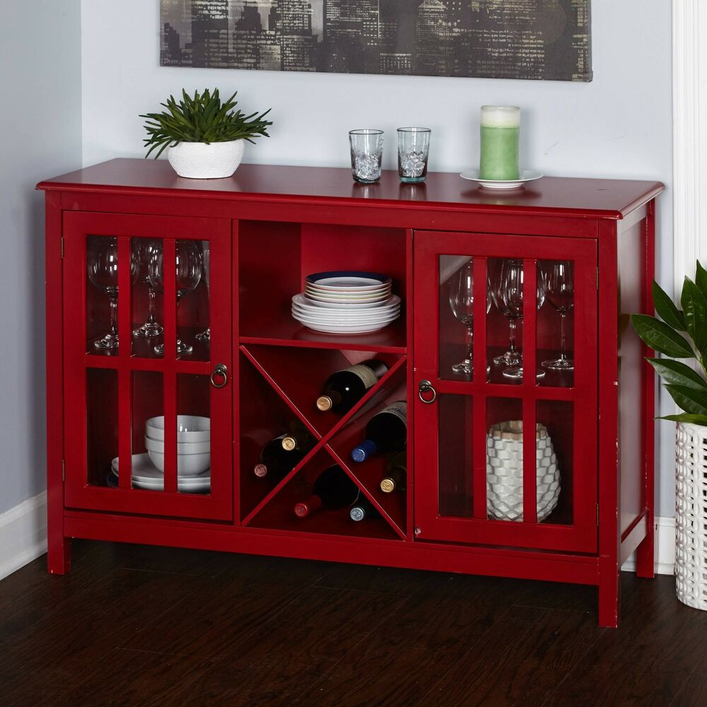 kitchen wine buffet table sideboard cabinet rack bar plates glasses rh ebay com kitchen sideboard furniture