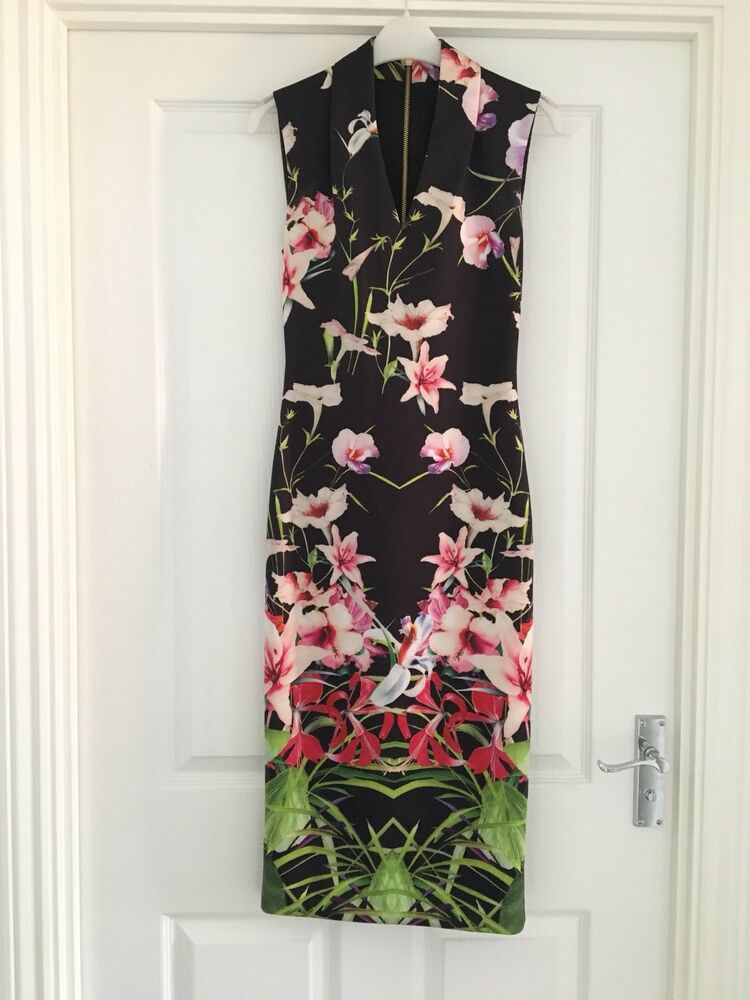 b56a4e60c Ted Baker tropical midi dress size 1
