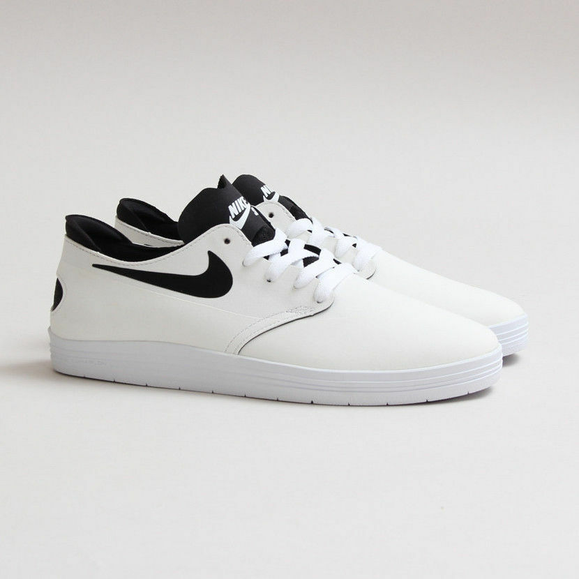 buy online 7ff89 048bb Details about Nike SB Men s Lunar OneShot Skateboard Shoes Size 6 NEW  631044 101 White Black