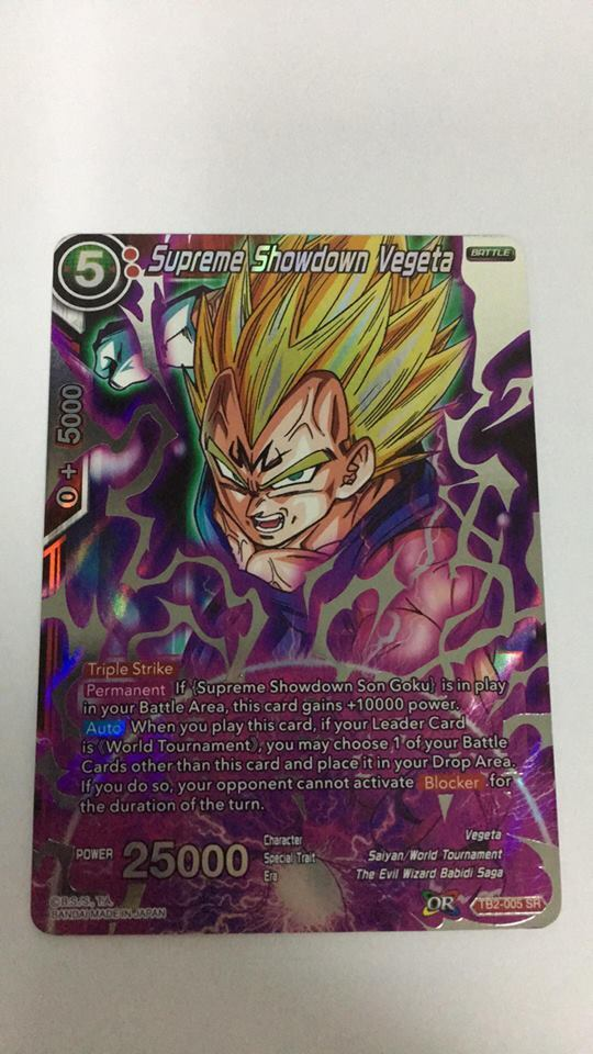 TB2-005 SPR Holo Foil Card Dragon Ball Super CCG Mint Supreme Showdown Vegeta