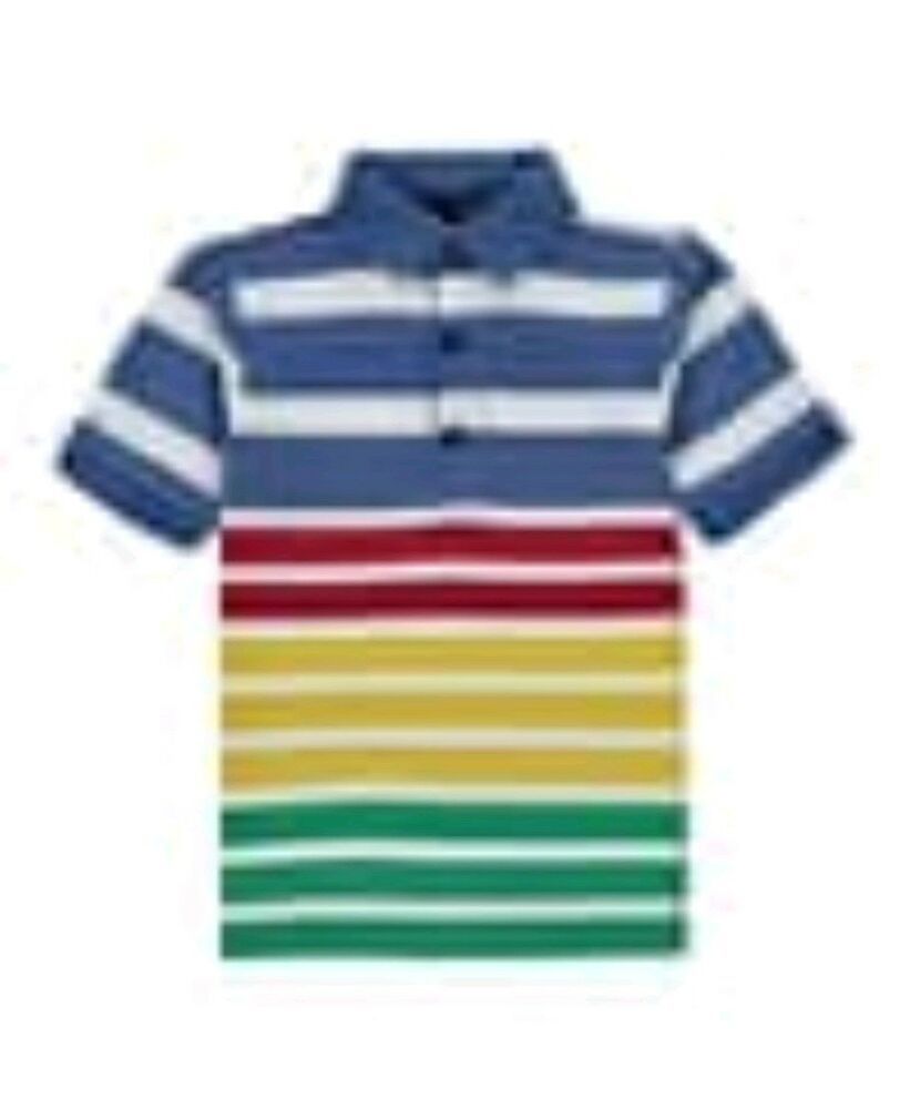 Details About Boys Stripped Polo Shirt Age 4 5 Years Birthday Gift For Kids Christmas