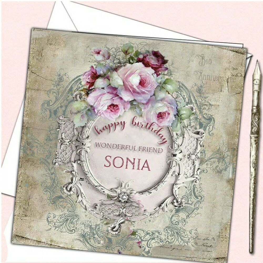 Details About Personalised Birthday Card Female Mother Daughter Sister Friend 30th 40th 50th