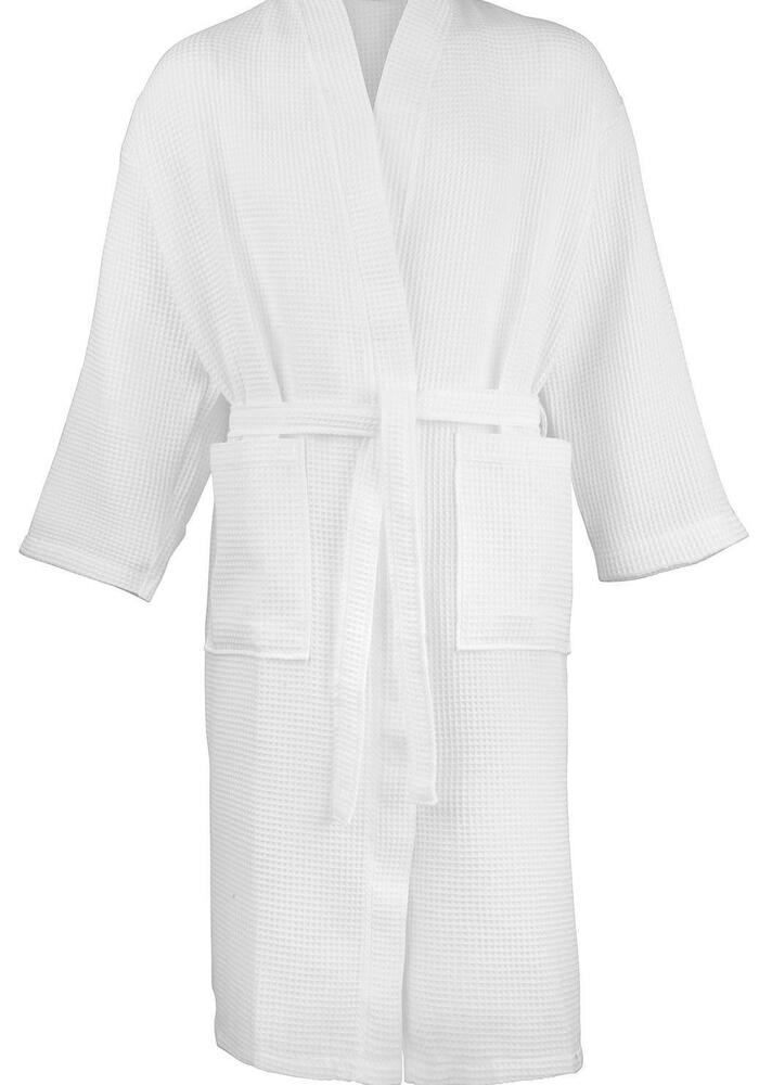 e9d81caeaf CLEARANCE LOT LIGHTWEIGHT WAFFLE WEAVE WHITE FREE SIZE BATHROBE DRESSING  GOWN