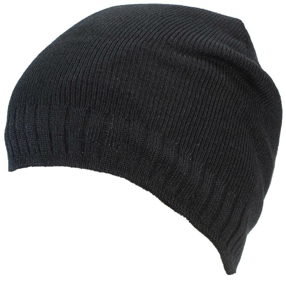 Details about Best Winter Hats Adult Solid Tight Rib Knit Beanie W Faux Fur   658 Black df866be4ce9