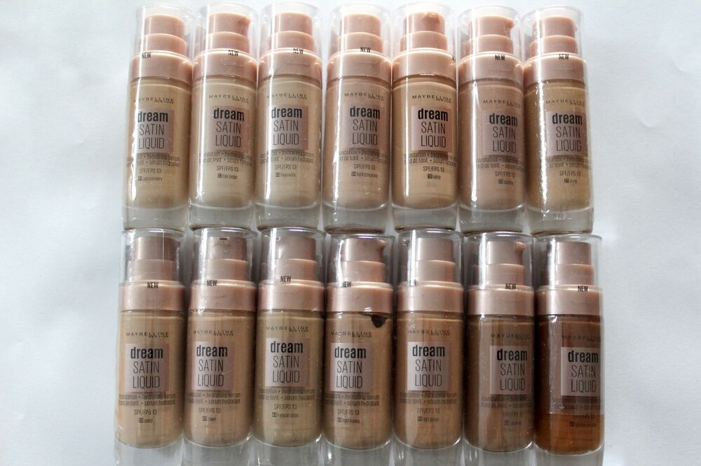 fd6fc7485 Maybelline Dream Satin Liquid Foundation + Hydrating Serum Choose Shade: |  eBay