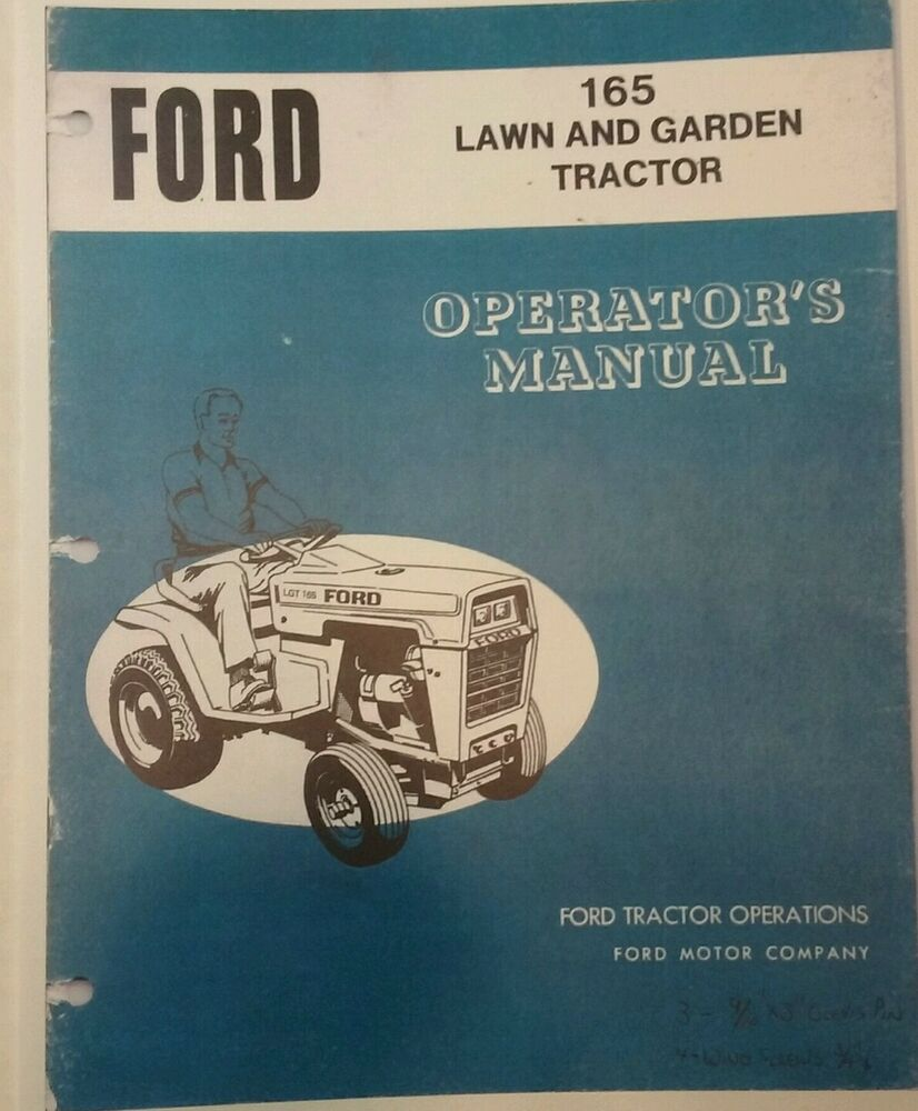 Ford LGT 165 Lawn Garden Tractor Owners Manual Jacobsen Hydrostatic 16 h.p  Mower | eBay
