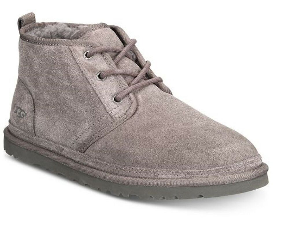 New Men 2019 Ugg Neumel Boots Shoes Charcoal Pure Wool