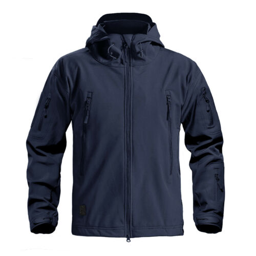 Men's Outdoor Winter Windproof Tactical Air Soft Fleece Lining Jackets Coats