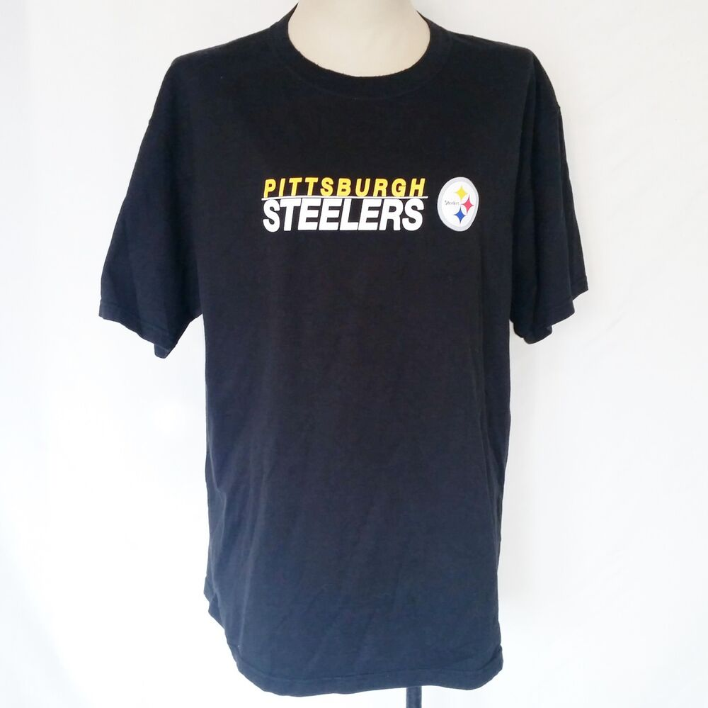 Details about Pittsburgh Steelers Mens Black T Shirt Size XL NFL Team  Apparel 8b7aa7f23