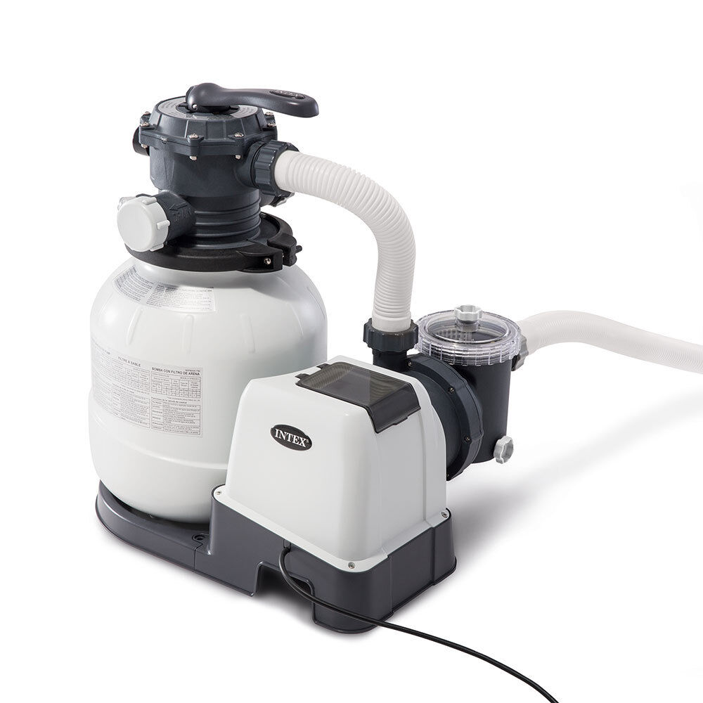 Intex 2100 Gph Above Ground Pool Sand Filter Pump With