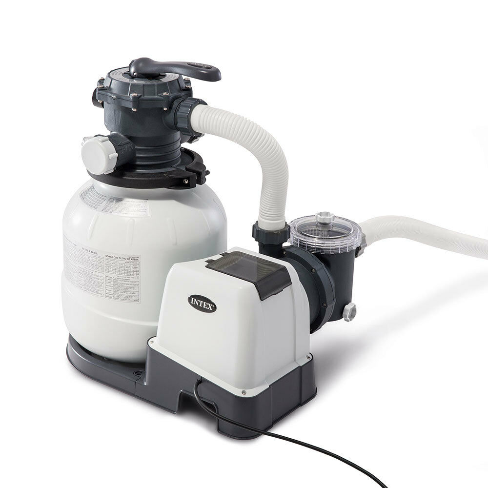 intex 2100 gph above ground pool sand filter pump with automatic timer 26647eg 78257266456 ebay. Black Bedroom Furniture Sets. Home Design Ideas