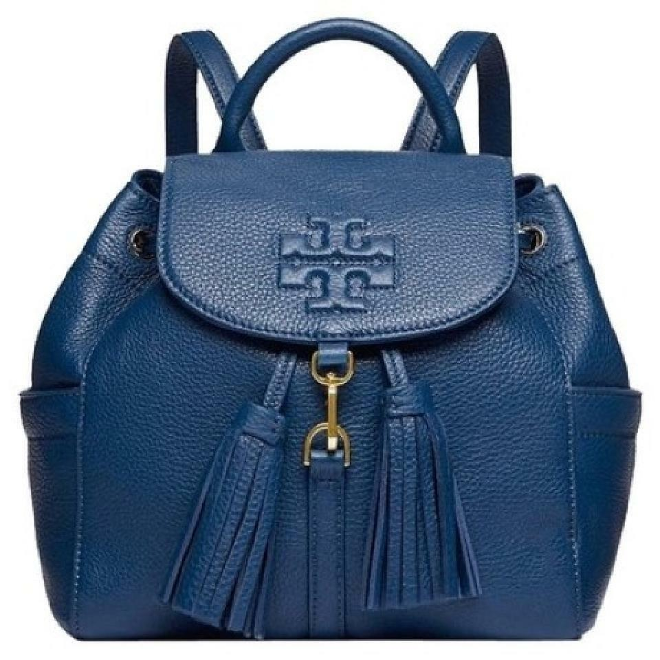 7cceef3308b Details about Authentic Tory Burch Thea Mini Backpack in Tidal wave and  dust bag MSR $450