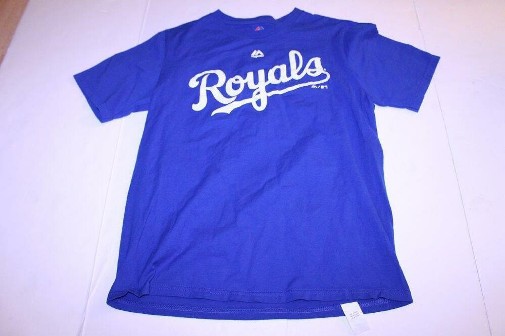 ec55156c6 Details about Youth Kansas City Royals XL (18) T-Shirt Tee (Royal Blue)  Majestic