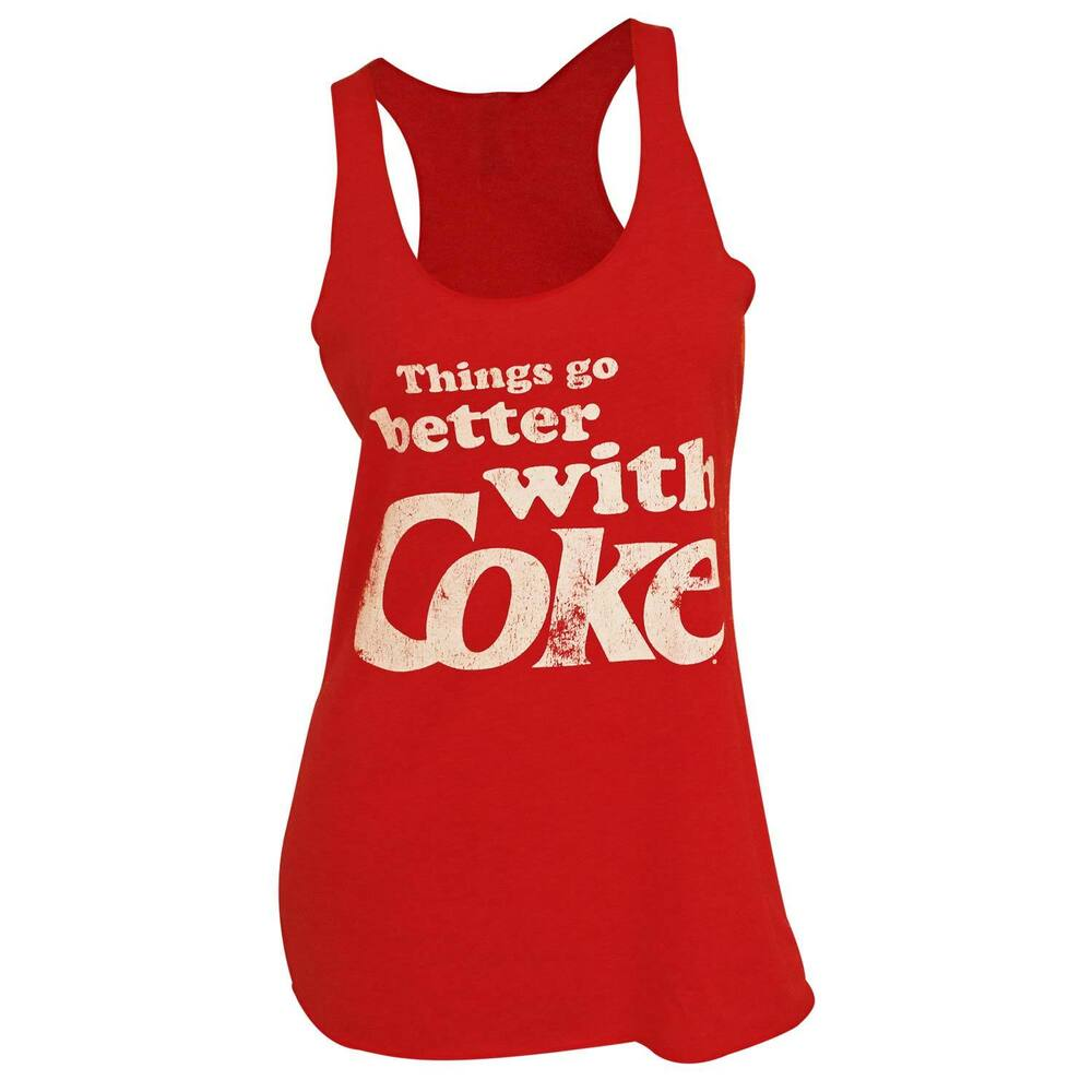 589c7d3ff56 Coca-Cola Things Go Better With Coke Women's Tank Top Red | eBay