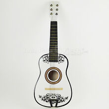 Coco Guitar White Guitar Day of The Dead Guitarra de Coco Blanca