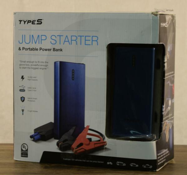 NEW Winplus Type S Jump Starter And Portable Power Bank 2 USB Charging Ports