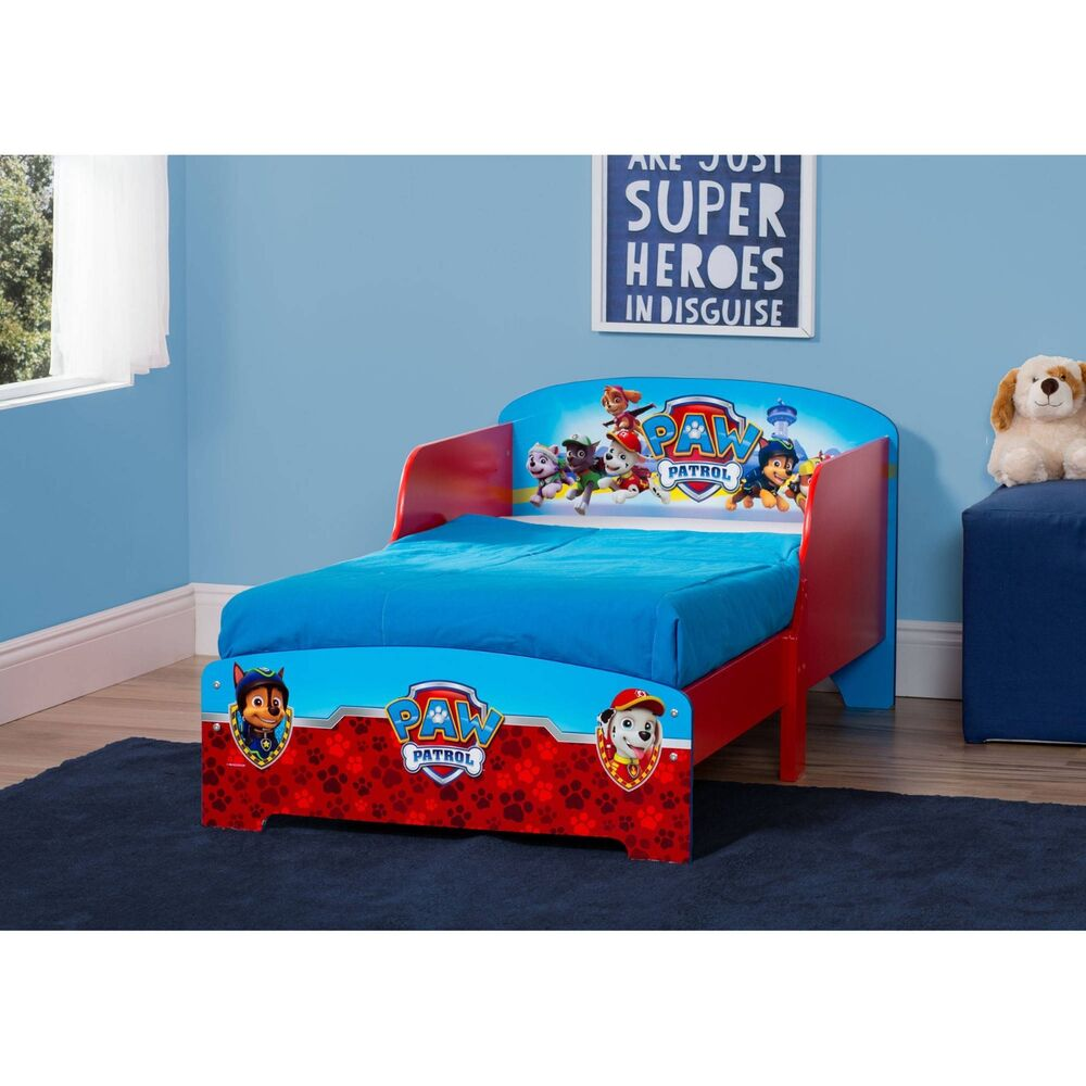 Little Boys Bed: Little Kids Wood Toddler Bed For Boys Girl Paw Patrol
