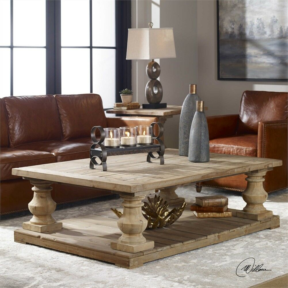 Farmhouse French Country Rustic Coffee Table Stratford