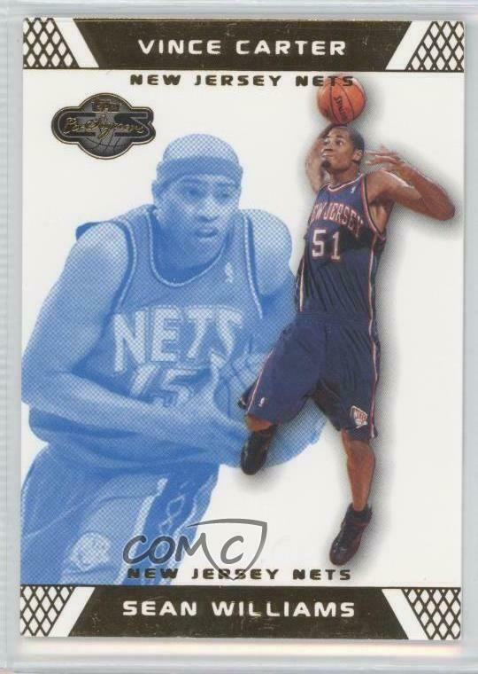 cdc784ec6 Details about 2007 Topps Co-Signers Gold Blue  83.1 Sean Williams Vince  Carter New Jersey Nets