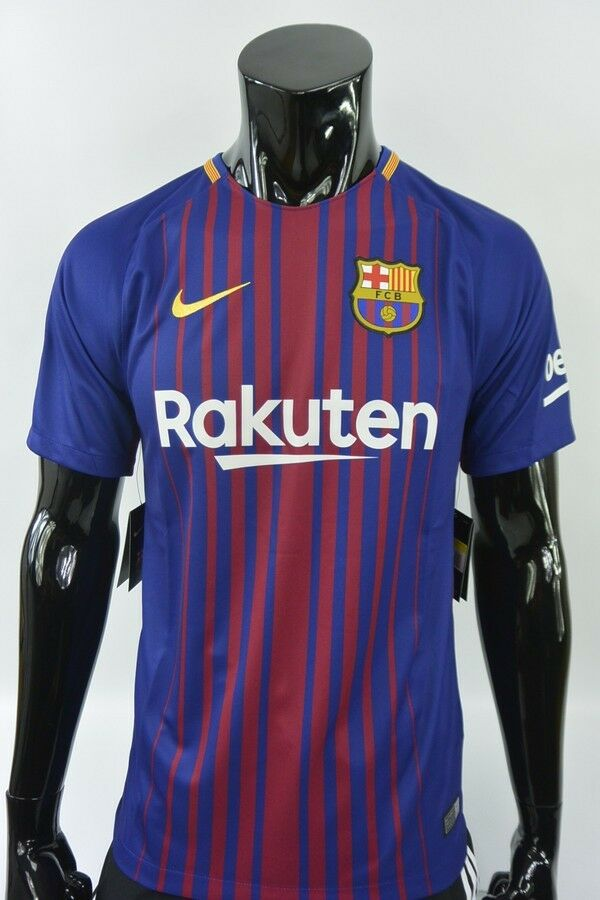 d7f66625bb2 Details about Nike FC Barcelona 2017-2018 BARCA Home Shirt Jersey SIZE S  (adults)