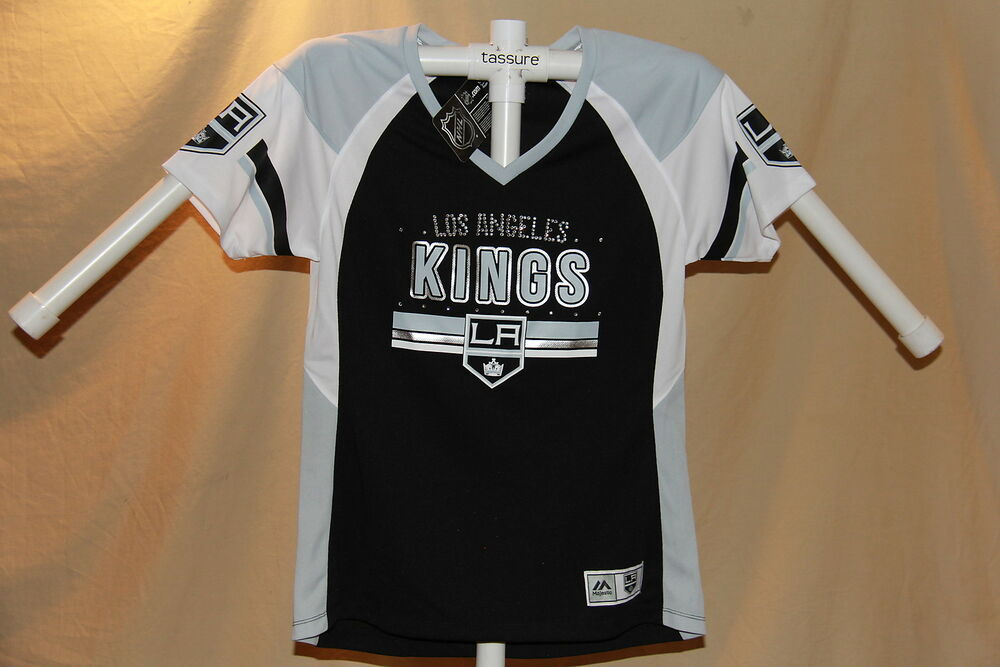 official photos fcb92 a2525 Los Angeles Kings NHL Fan Fashion JERSEY/Shirt MAJESTIC Womens Large NWT  $55   eBay