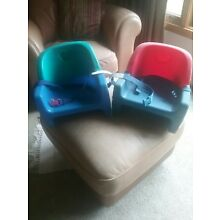 2 Fisher Price Grow with me Toddler booster seats. Detachable backs.