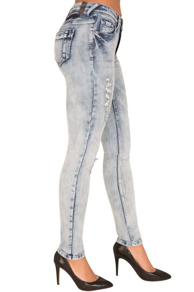 02e65eb5abf Details about Poetic Justice Curvy Fit Women s Light Acid Wash Skinny Jeans