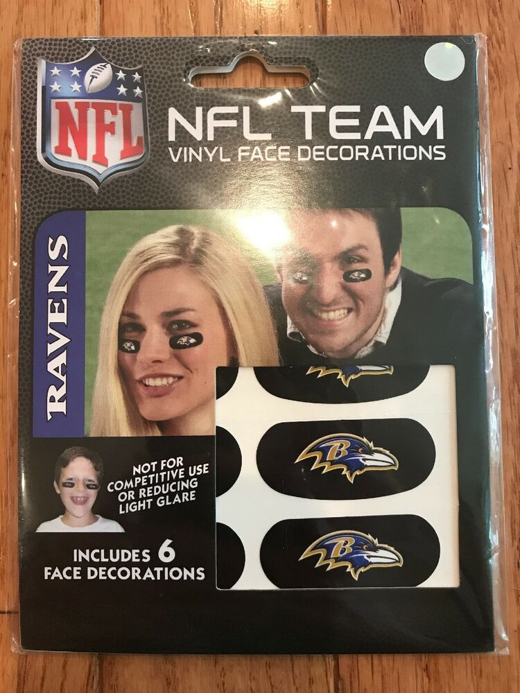 Details about NFL Football Team Logo 6 Pack Eye Black Strips Vinyl Face  Decorations Stickers