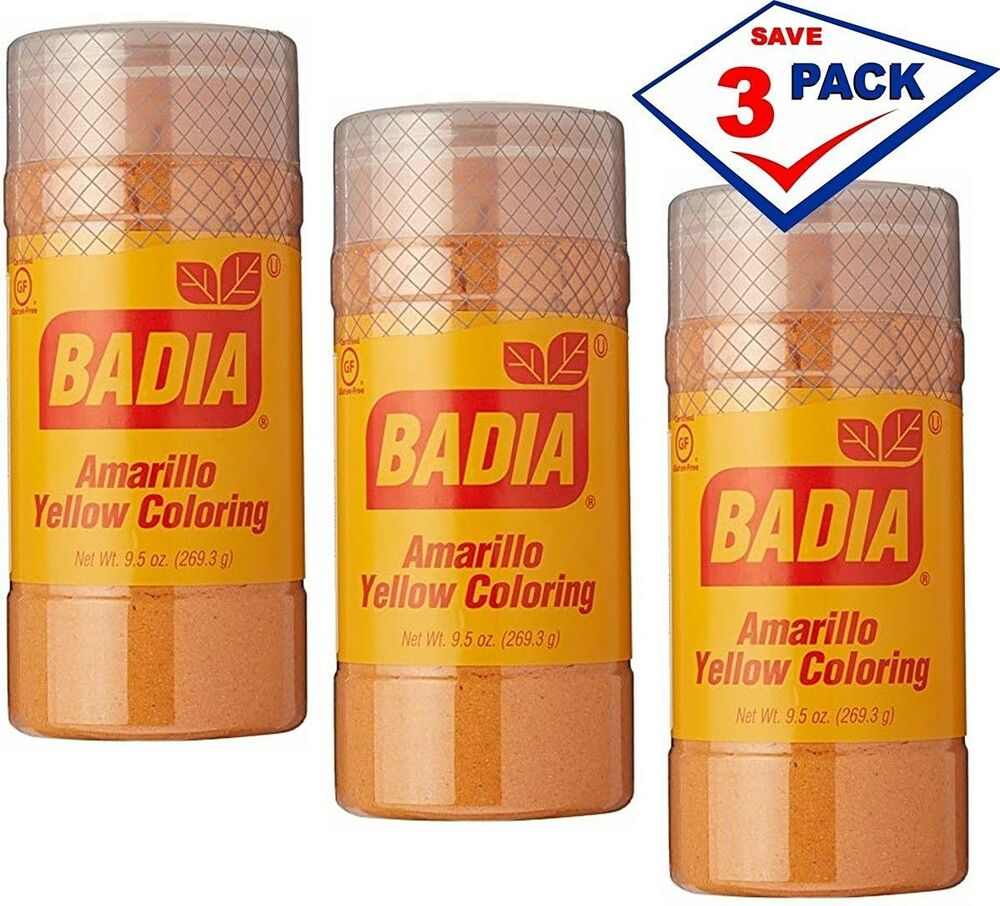 3 Pack - Badia Yellow Coloring Amarillo 9.5 oz each 33844007140 | eBay