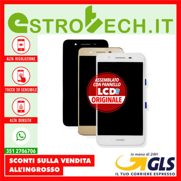 3 COLORI Schermo Display PER HUAWEI P8 LITE SMART CON LCD ORIGINALE TAG-L01