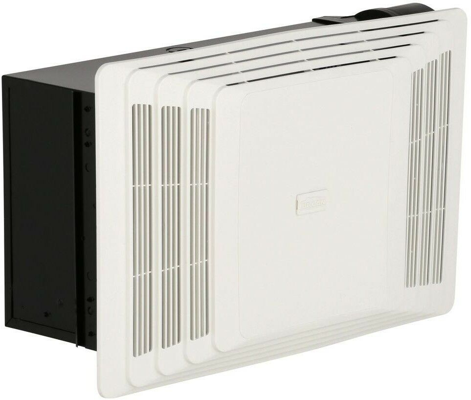 Broan Ceiling Bathroom Exhaust Fan with Heater 70 CFM Surface ...