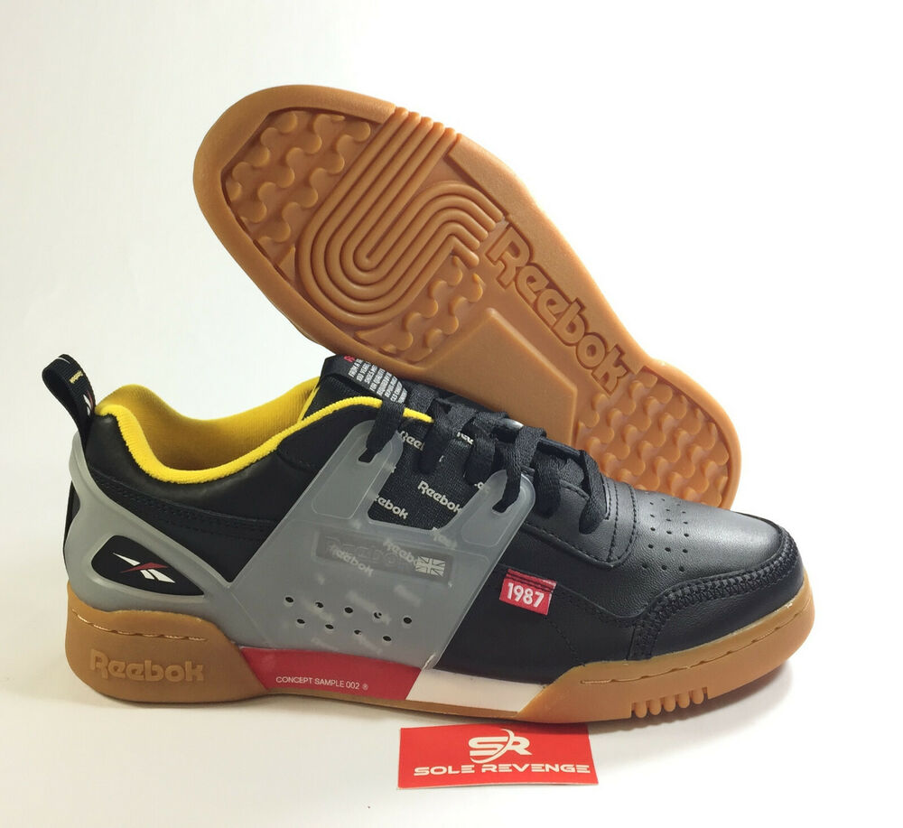 675e9d86cb2 REEBOK WORKOUT PLUS ALTERED DV5242 Black Excellent Red Yellow Alter the  Icon c1