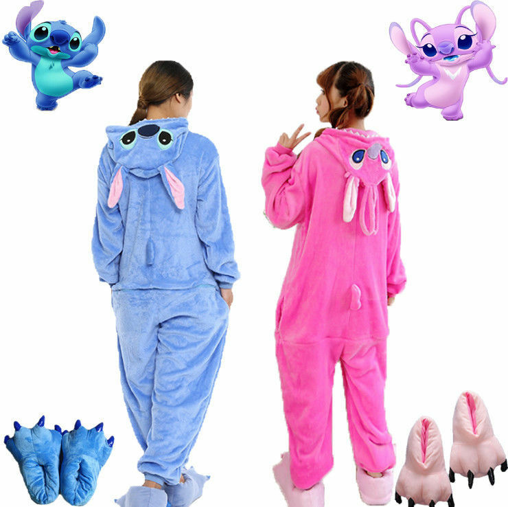 10e4b58f0e Details about BlueStitch Pink Stitch Adult Unisex Animal Kigurumi Pajamas  Costume Cosplay