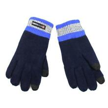 Youth Boys Swiss tech Navy Snow Knit Winter Texting Gloves