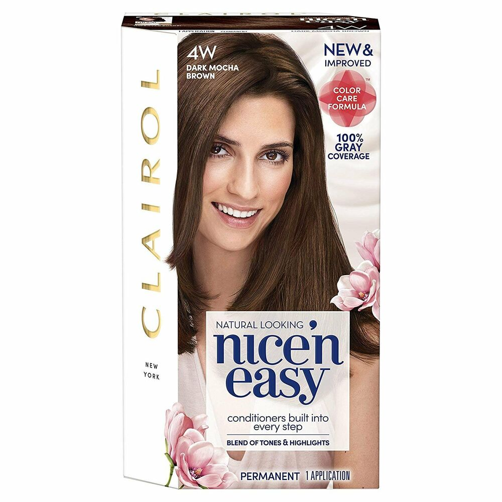 Details About Clairol Nice N Easy Hair Color 120b Natural Dark Caramel Brown 1 Kit