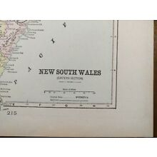 Vintage 1900 NEW SOUTH WALES Map 11