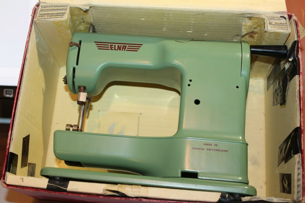 NICE VINTAGE ELNA JUNIOR SEWING MACHINE Made In SWITZERLAND EBay Simple Elna Junior Sewing Machine