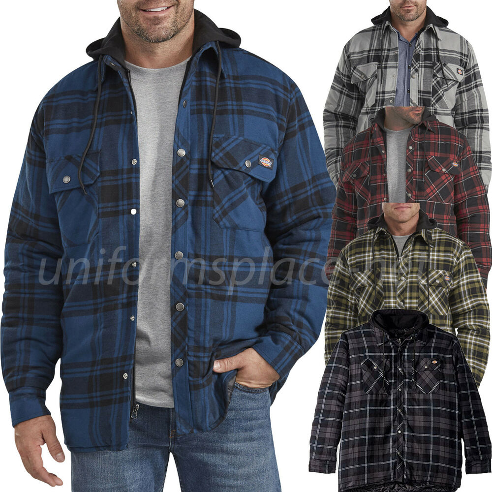 Dickies Flannel Jacket Mens Relaxed Fit Icon Hooded