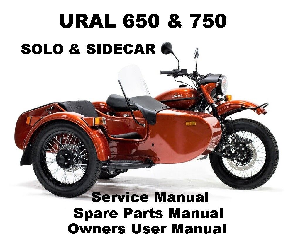 URAL 650 750 Owners Workshop Service Repair Parts Manual PDF CD-R SOLO  SIDECAR | eBay