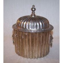 Nice Old Vintage Silverplate Tea Caddy / Biscuit Box - Estate - No Reserve