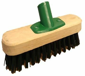 9 Quot Stiff Deck Scrub Floor Scrubbing Brush Broom Head With