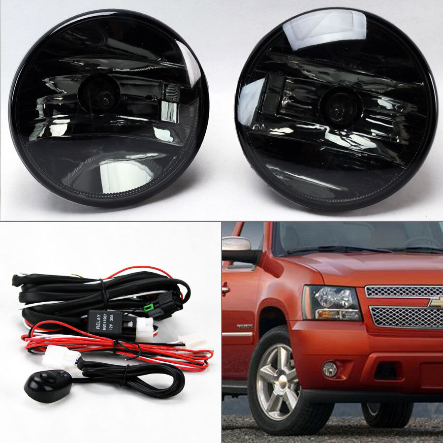 details about smoke fog lights w/ wiring for chevy avalanche tahoe suburban  gmc yukon 07-14