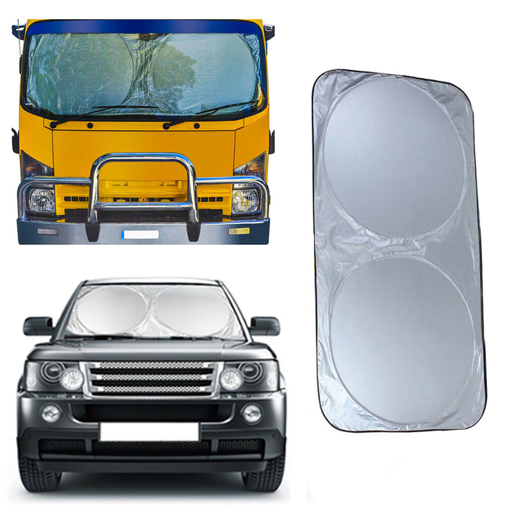 Details about ND  FOLDABLE EXTRA LARGE SUN SHADE TRUCK VAN CAR WINDSHIELD  VISOR BLOCK COVER 6956821a419