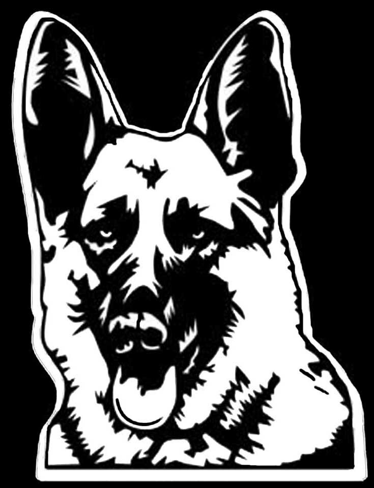 German Shepherd Decal Car Vinyl Vehicle Window Sticker Dog Wagons