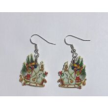 The Grinch Earrings Sled Gifts Charms