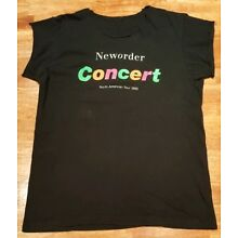 Vintage 80's New Order Concert T-Shirt North American Tour 1989