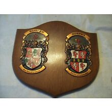 RIORDAN AND MURPHY FAMILY CREST ON SOLID WOOD PLAQUE