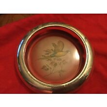 """Vintage/antique Frank Whiting Large Magnum Coaster 7"""" Wide With Pheasant"""