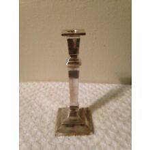 One Vintage: Silver Plate Candle Stick Holder 8 1/4