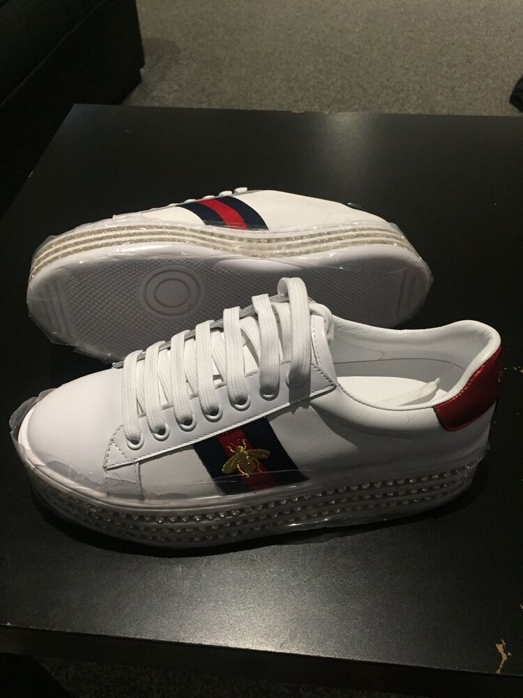 Womens Gucci Studded Platform Sneakers  53d408acc